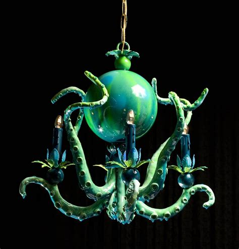 Octopus Light Fixture Colorful Octopus Chandeliers By Adam Wallacavage