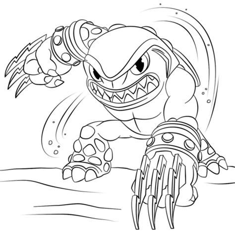 Kaos Ripper Black skylanders terrafin coloring page free printable