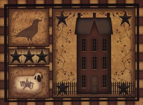 primitive shadowbox fine art print by carrie knoff at