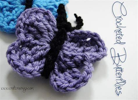 free crochet pattern for butterflies crochet zone cute and easy crocheted butterflies free pattern
