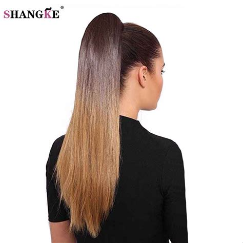 ponytails at work hair extensions types hair extensions aliexpress com buy shangke 24 quot synthetic long straight