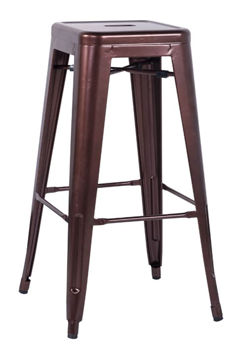 Galvanised Bar Stools by Chintaly Imports 8015 Galvanized Steel Bar Stool Copper 8015 Bs Cop Homelement