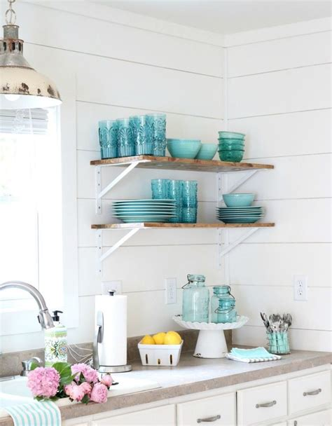 open shelving in a bright kitchen decoist 25 best ideas about turquoise walls on pinterest bright