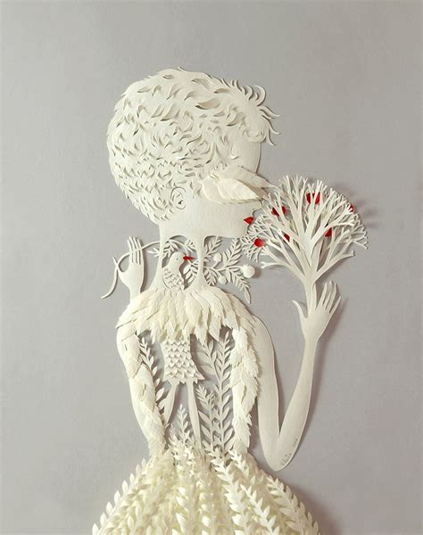 Paper Artists - cut paper sculptures and illustrations by elsa mora colossal