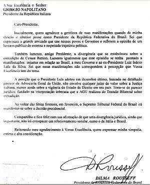 consolato brasiliano a napoli battisti roussef scrive a napolitano quot ecco i motivi