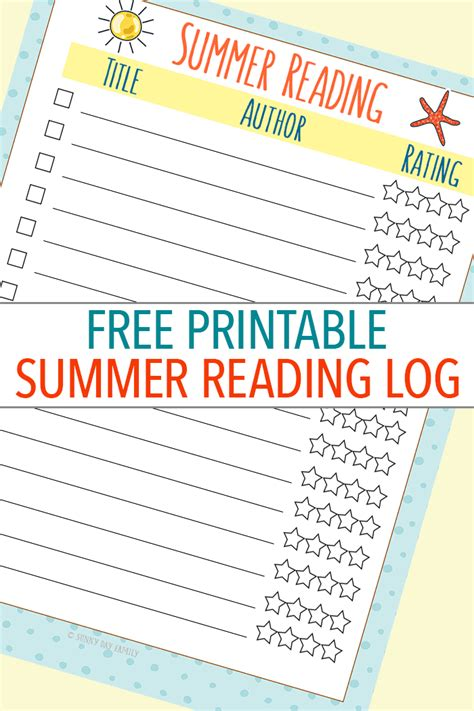 printable children s reading books free printable summer reading log an epic way to fill it
