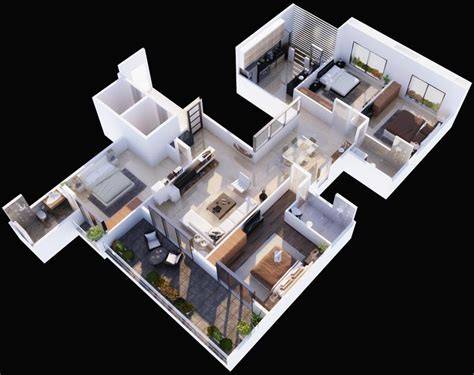 isometric floor plan patil group builders and developers flats in nashik