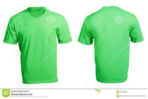 Kaos Apple By Bozz Jersey plantilla con cuello de pico verde en blanco de la camisa