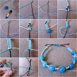 How to make large beads bracelet step by step diy tutorial