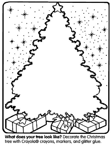 christmas tree coloring page crayola com