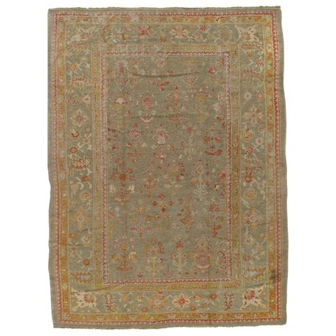 green rugs for sale antique turkish oushak carpet handmade wool rug green rug for sale at 1stdibs