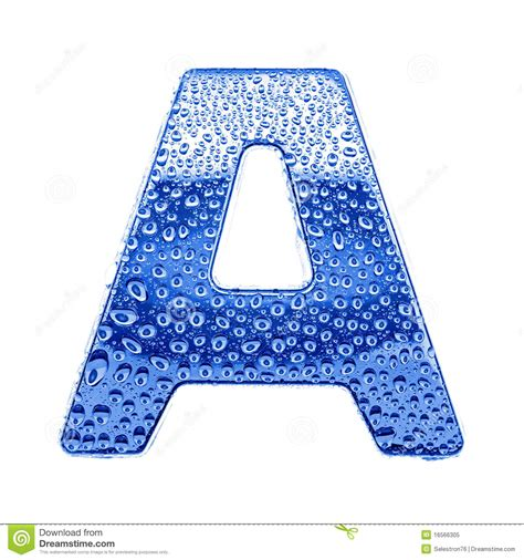 metal letter water drops letter a stock image image
