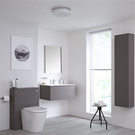 Modern Gray Bathroom by On Trend Grey Bathroom Ideas Bigbathroomshop