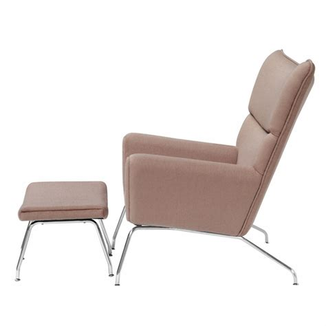 Wing Chair Ottoman Wing Chair And Ottoman In Wool Modern In Designs