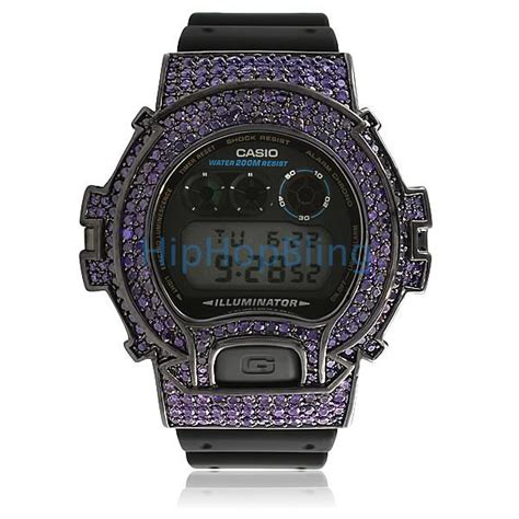 all purple cz custom casio g shock custom g