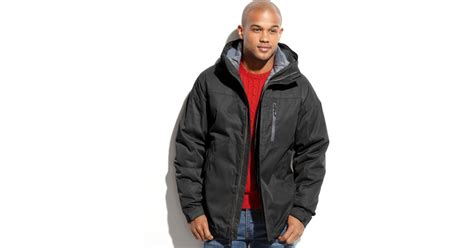Sale Gucci 3in1 Ln6118 weatherproof 32 degrees coat twill tech midweight 3in1 systems jacket in black for lyst