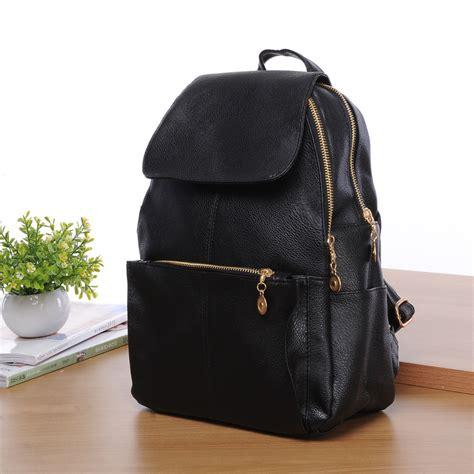 New Ambeebaby Backpack Bag new black backpack travel pu leather handbag rucksack shoulder school bag ebay