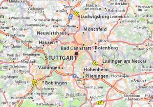 map of stuttgart   michelin stuttgart map   viamichelin