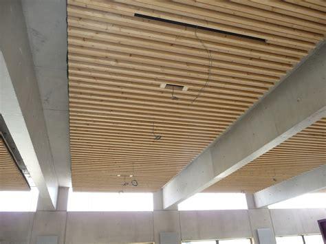Faux Plafond Bois by Menuiserie Int 233 Rieure Plafonds Phoniques En Bois Xyleo