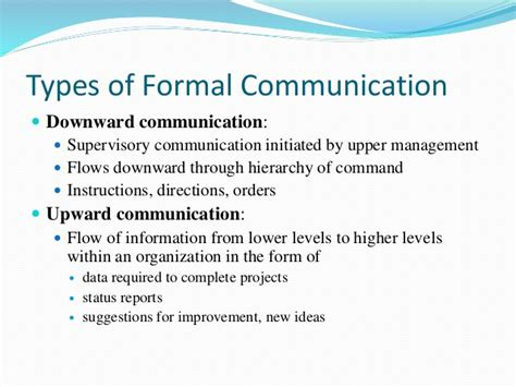 patterns of business communication in an organization 5 formal informal comm channels