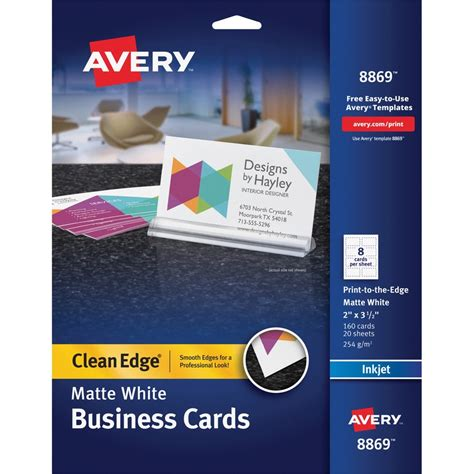 Avery Business Card Ave8869 Supplygeeks Com Avery 3m Templates
