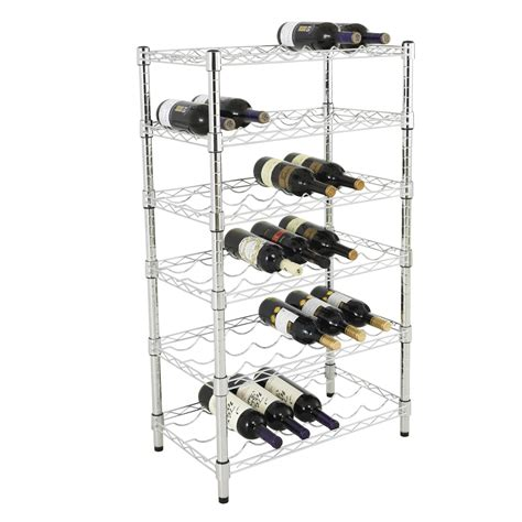 Garage Wine Storage by New 36 Bottle Chrome Wine Rack Wire Shelves 41 Quot Hx24 Quot Wx14 Quot D