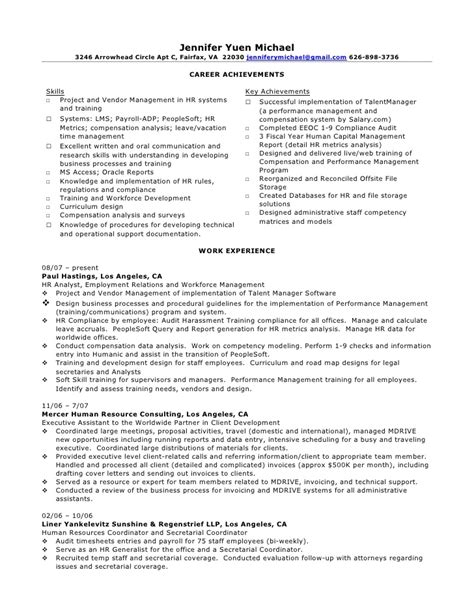Peoplesoft Business Analyst Sle Resume by Michael Resume