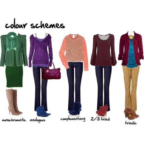 color wheel clothes fashion color wheel matching clothing