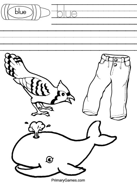 coloring page of blue free coloring pages of blue color worksheets