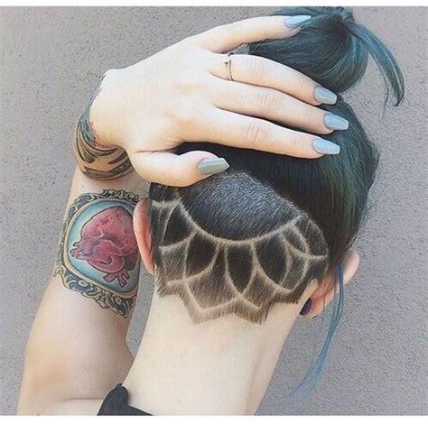 haircut designs on back of head la moda en tu cabello cortes de pelo rapado undercut para