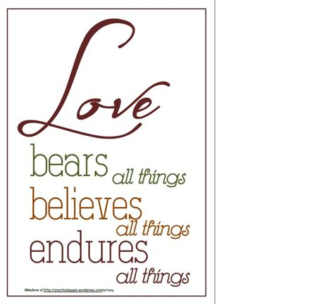 images of love endures all things love bears all things practical pages