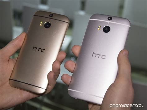 htc one m8 colors in pictures the htc one m8 in silver and gold android