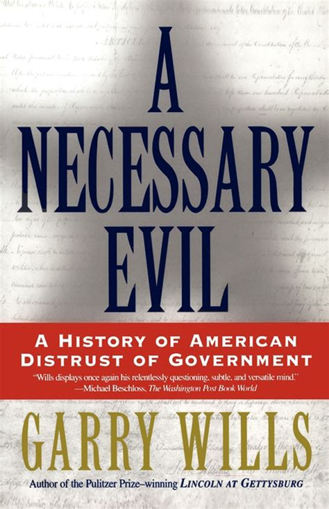a necessary evil books a necessary evil book by garry wills official