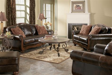 antique living room furniture barcelona antique living room set from ashley 55300