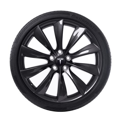 with wheels tesla 21 quot turbine wheel and tire package grey