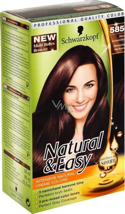 schwarzkopf natural easy hair color  brilliant red
