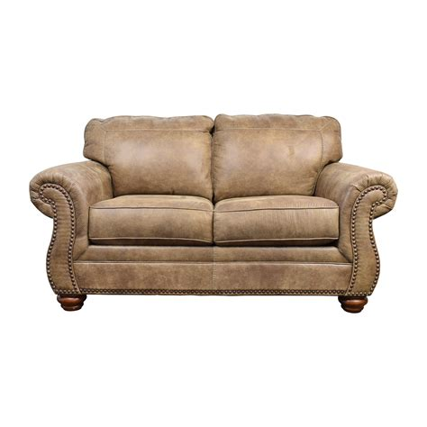 faux leather sofa and loveseat faux leather sofa and loveseat brown fabric traditional