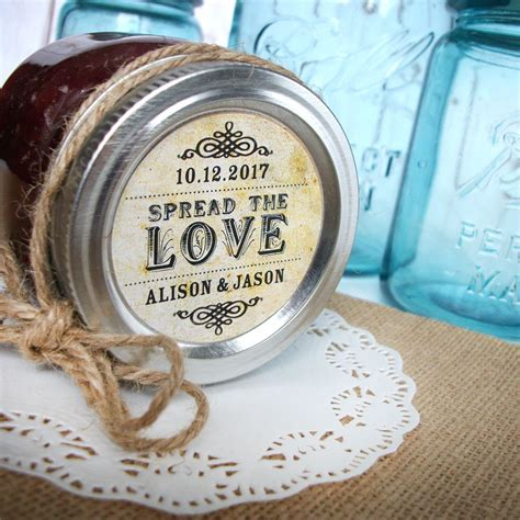 printable mason jar labels wedding vintage spread the love custom canning jar labels