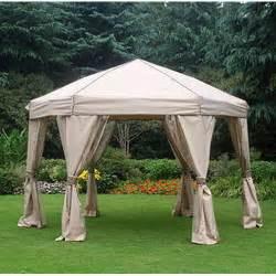 12 ft portable hexagon gazebo replacement canopy garden winds