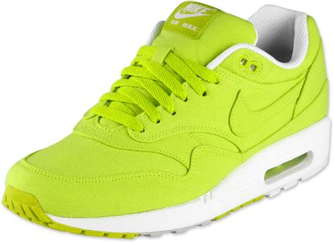 nike air max  shoes neon yellow green