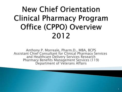Mba Orientation Programme Ppt by Ppt New Chief Orientation Clinical Pharmacy Program