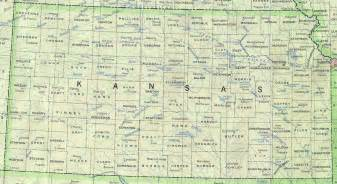 State Map Of Kansas by Kansas Base Map