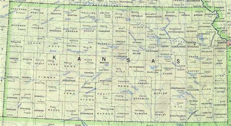 kansas state map kansas base map