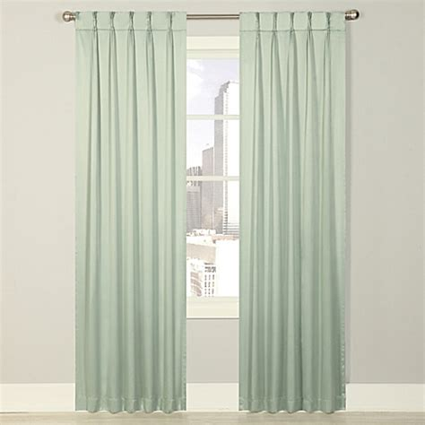 pinch pleat drapes bed bath and beyond splendor grommet glide pinch pleat lined window curtain panel bed bath beyond
