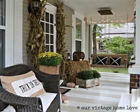 Home Front Decor Ideas by Our Vintage Home Love Autumn Porch Ideas