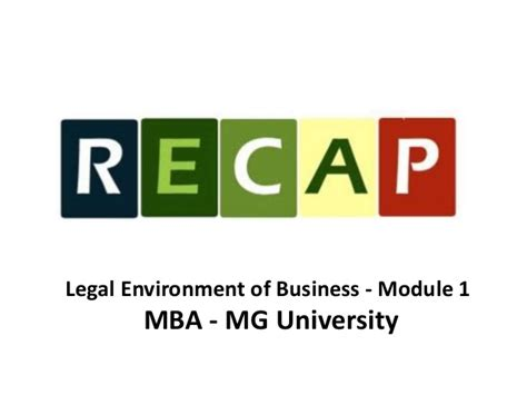 Business Legislation Mba by Environment Of Business Module 1 Mba Mg