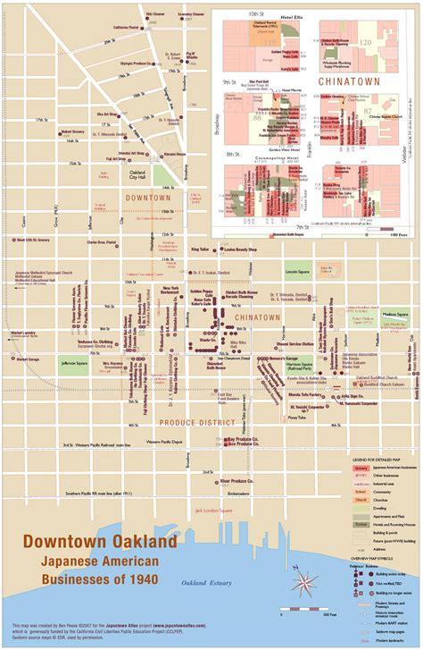 japan center san francisco map oakland downtown chinatown map