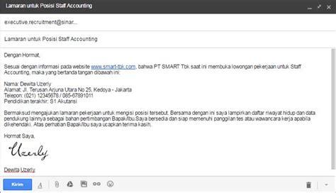membuat lamaran kerja di email membuat surat lamaran kerja via email buat email