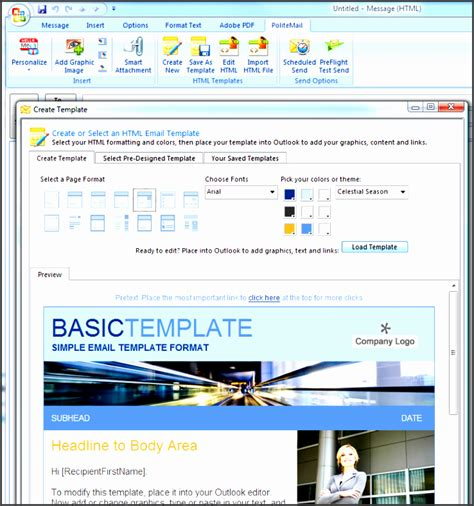 how to make a template in outlook 10 printable outlook newsletter sletemplatess