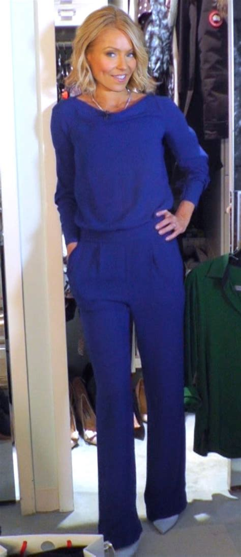 kelly ripa fashion finder kelly ripa wore this dvf electric blue jumpsuit live with
